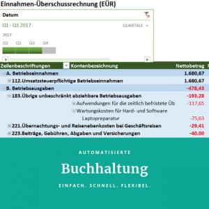 Automatisierte Buchhaltung mit Excel