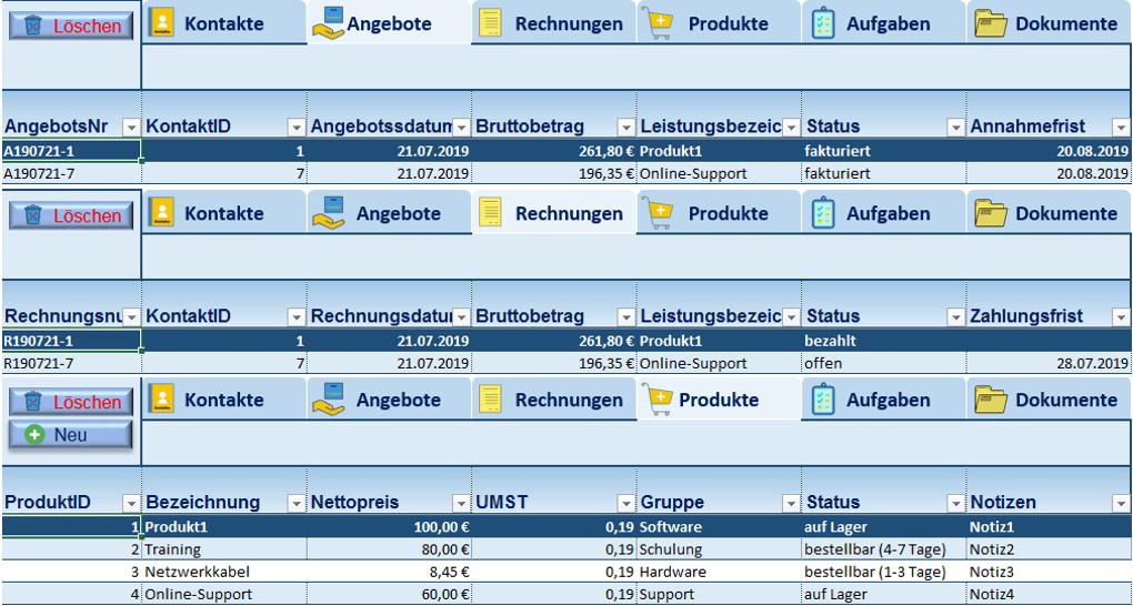 Crm In Excel Fur Freiberufler Selbststandige Und Kleinunternehmer